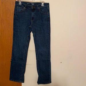 Bootcut blue jeans